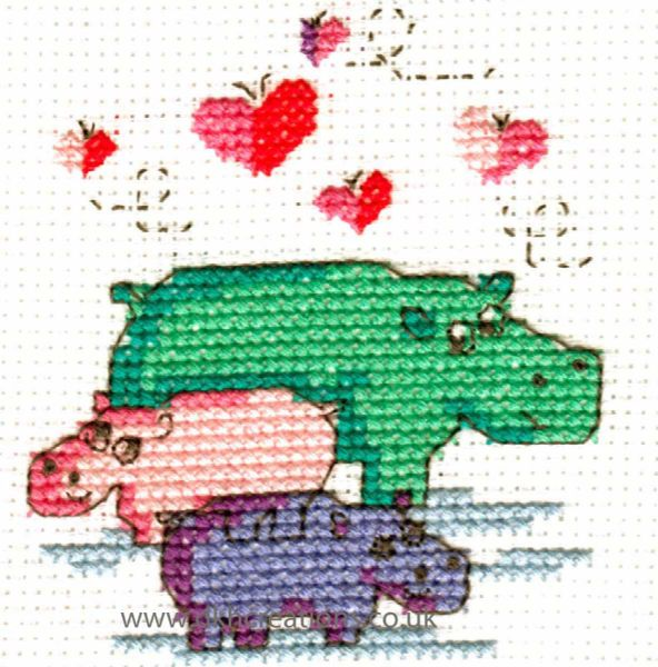 Happiness Is Family Mini Cross Stitch Kit
